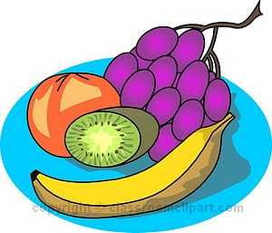 300x257 Plate Clipart Fruit Plate
