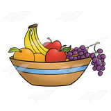 160x160 Abeka Clip Art Fruit Apples, Grapes, Bananas,
