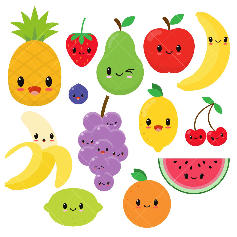 1500x1500 Fruit Clipart Kawaii