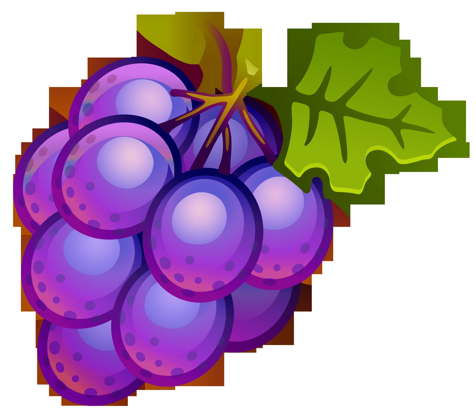 2000x1741 Clip Art Image Of Fruit Grape Clipart Image