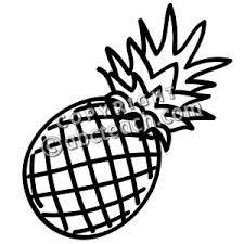 225x225 Pineapple Clip Art Black And White, Free Pineapple Clipart Black