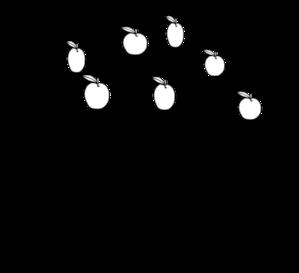299x273 Apple Tree Clip Art