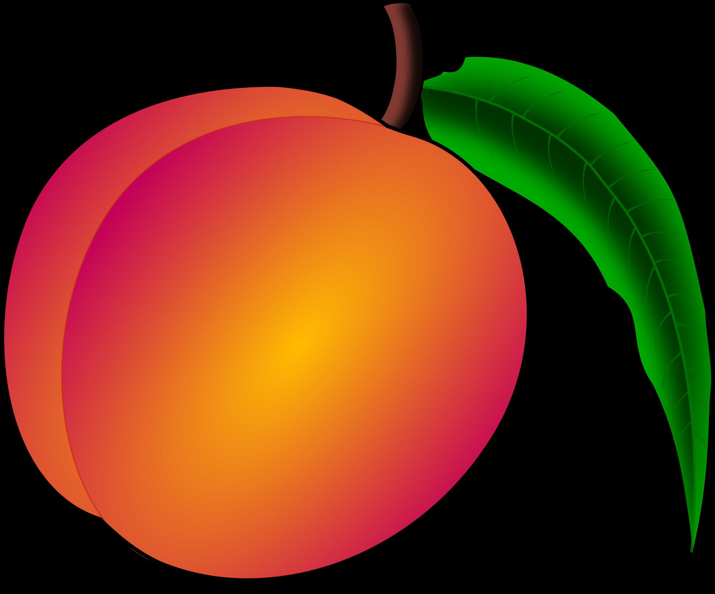 2400x1994 Fruit Clipart Image Peach Design Image