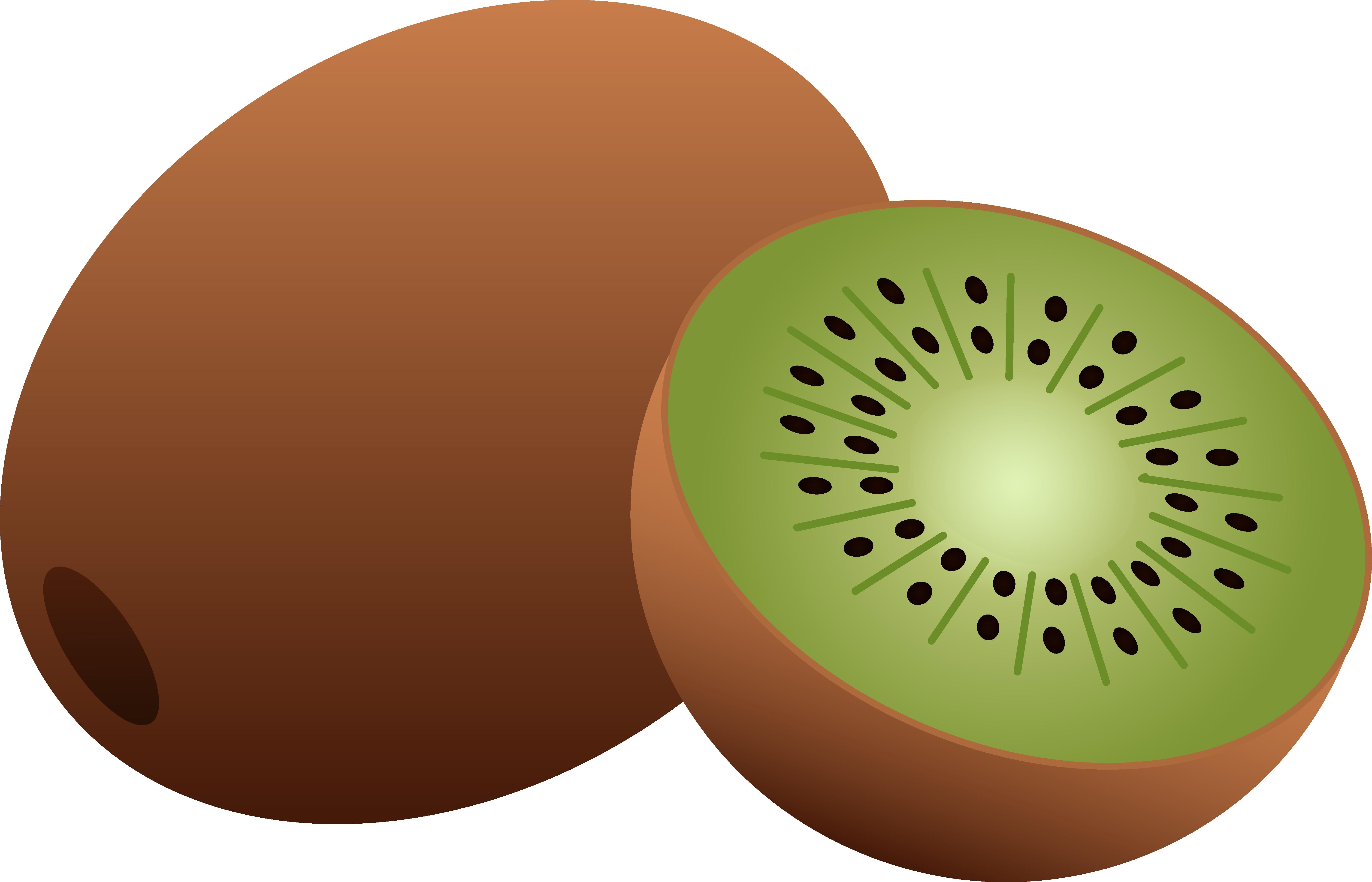 5942x3822 Whole And Half Kiwi Fruit