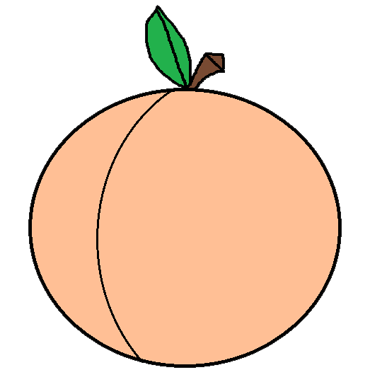 523x523 Best Peach Clip Art