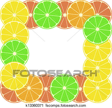 450x433 Clipart Of Lemon Fruit, Lime Fruit, Orange Fruit. Colorful Citrus