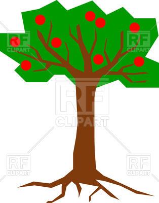 314x400 Cartoon Fruit Tree Royalty Free Vector Clip Art Image