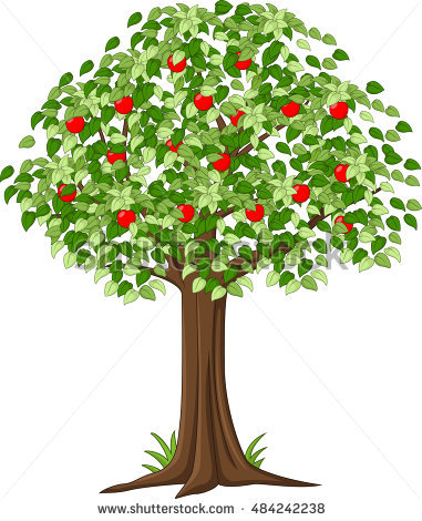 381x470 Cherry Tree Clipart Red Apple