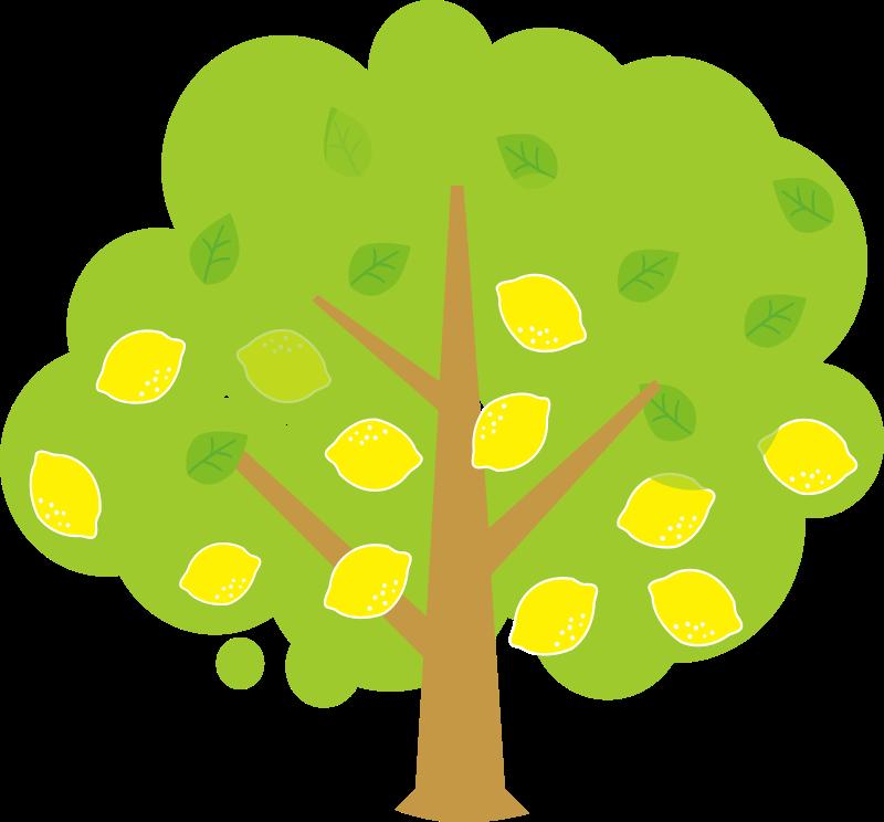 800x744 Free Cute Lemon Tree Clip Art