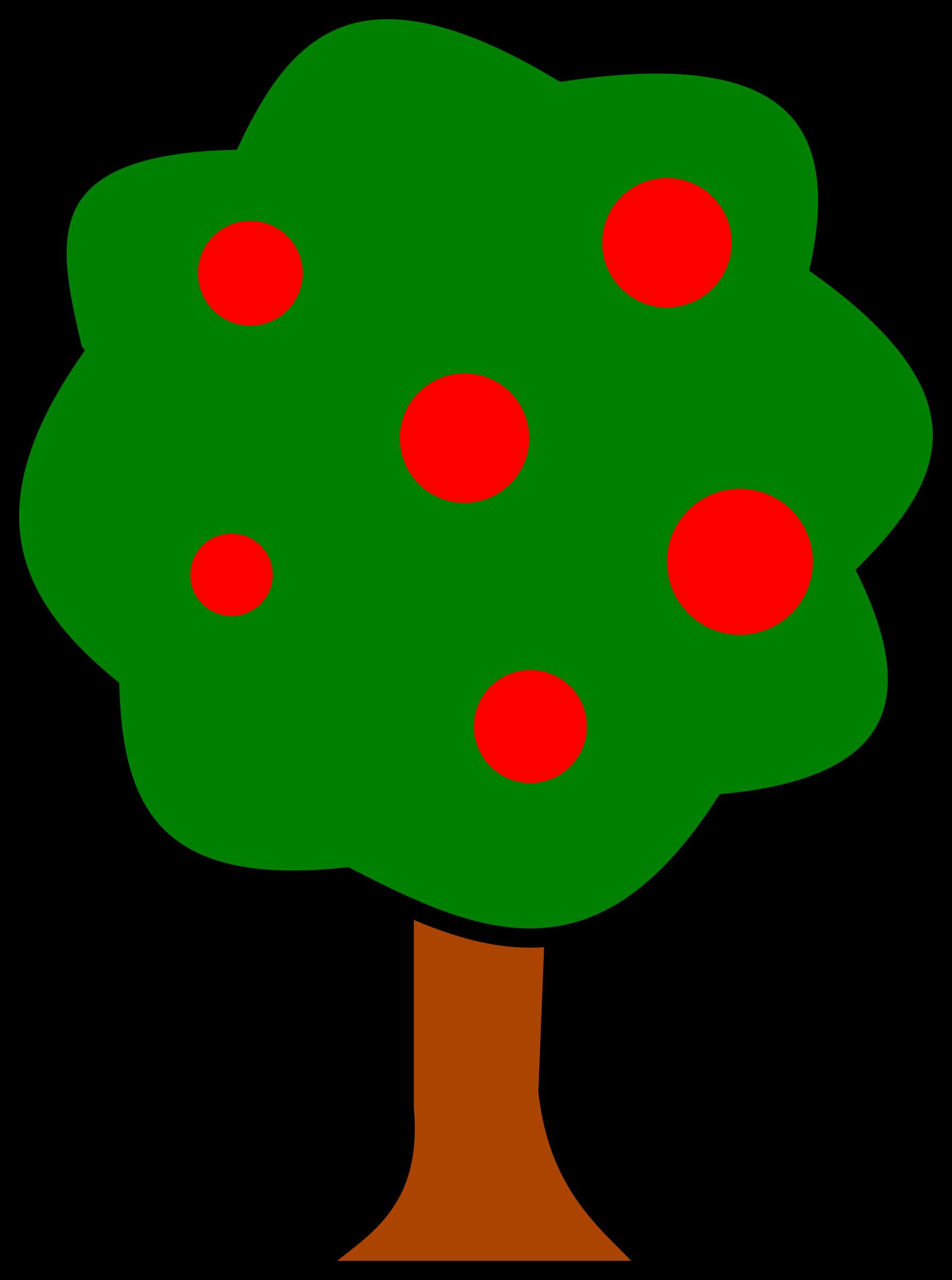 1786x2400 Free Fruit Tree Clipart