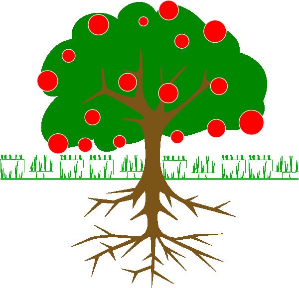 600x579 Fruit Tree Clip Art