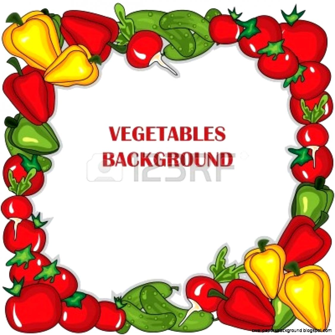1128x1128 Fruits And Vegetables Border Clipart Wallpapers Background