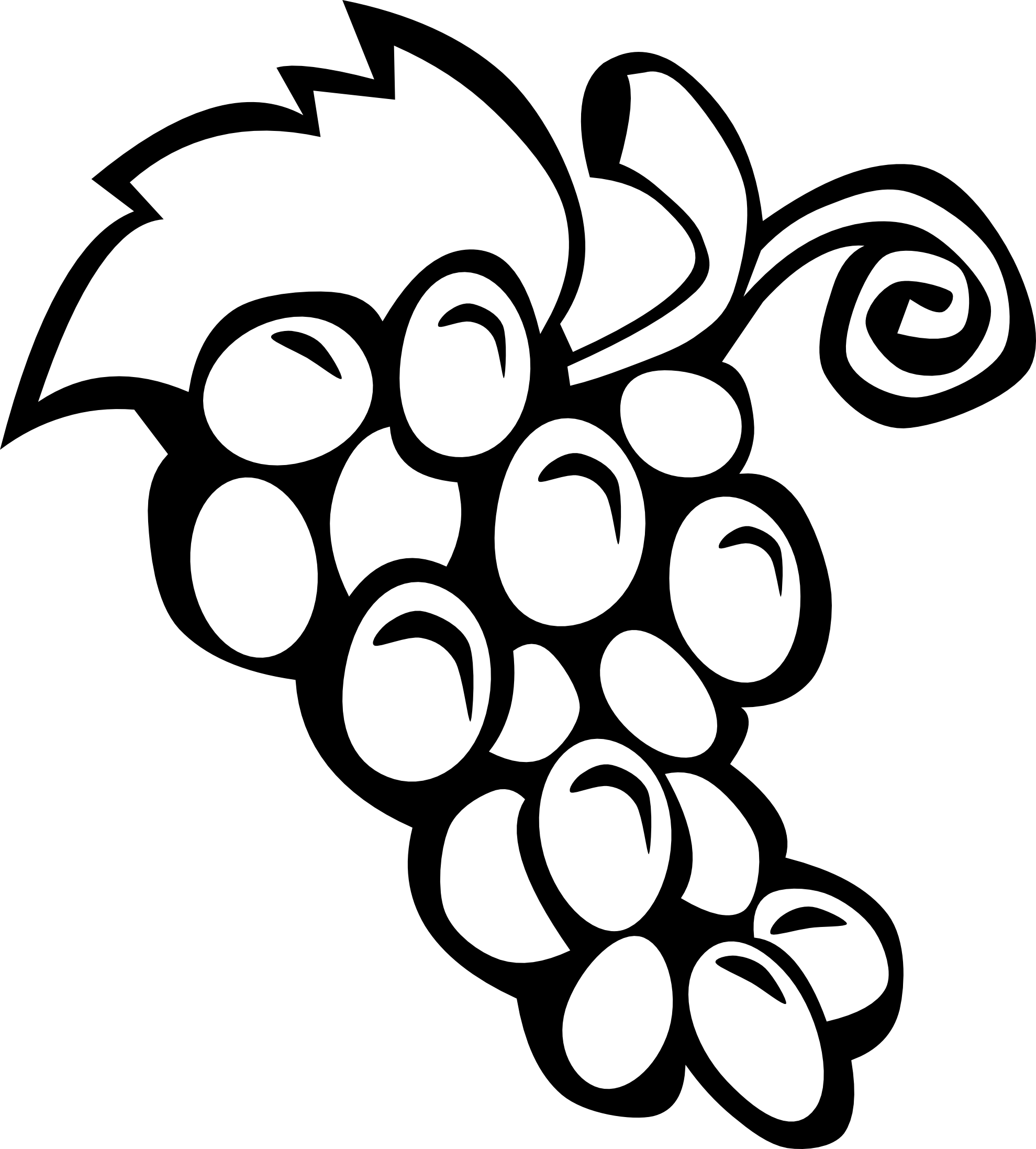 1979x2194 Fruits And Vegetables Clipart Black And White