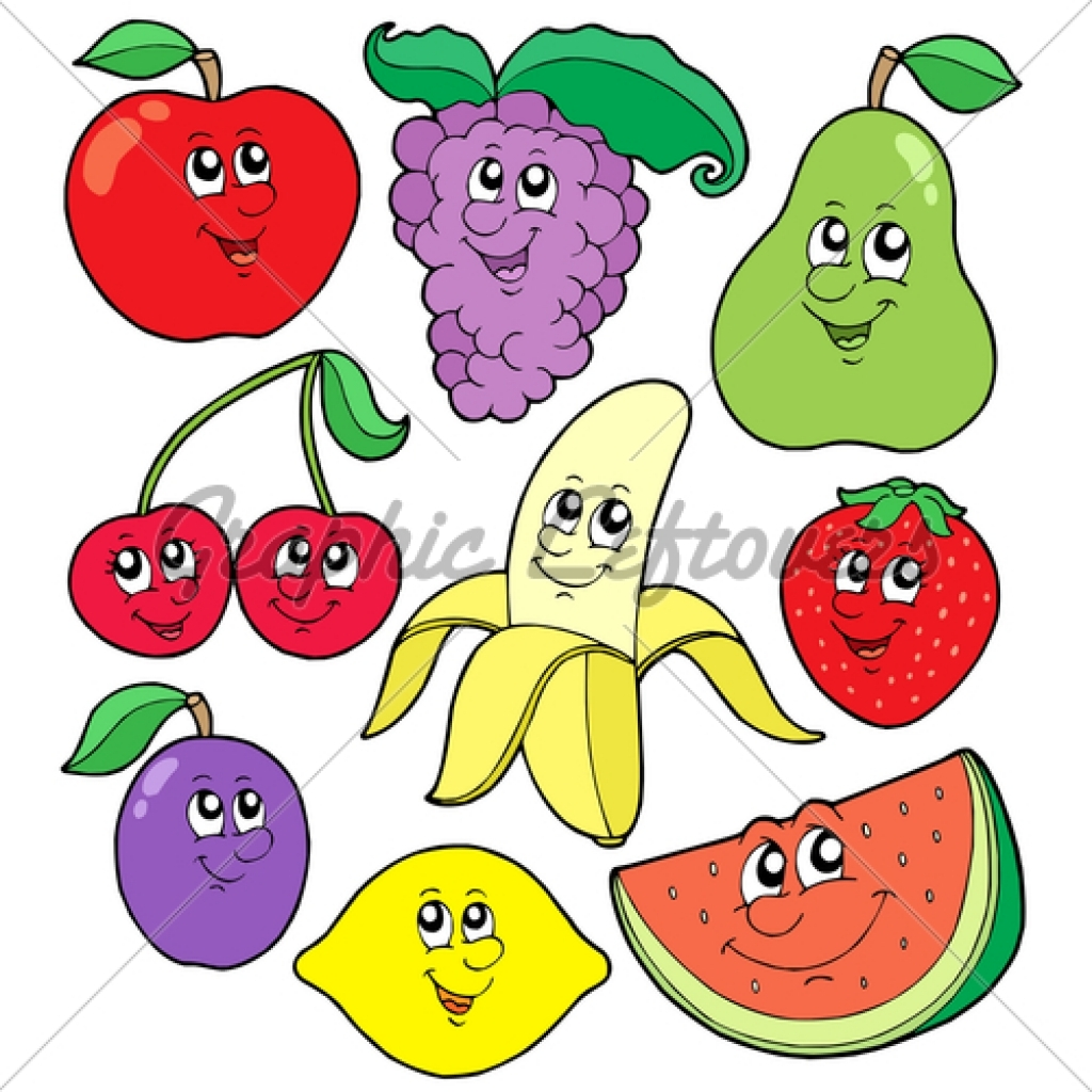 1024x1024 Fruits Amp Vegetables Clipart Animated
