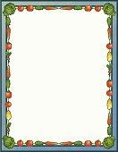 132x170 Fruits And Vegetables Border Stock Vectors