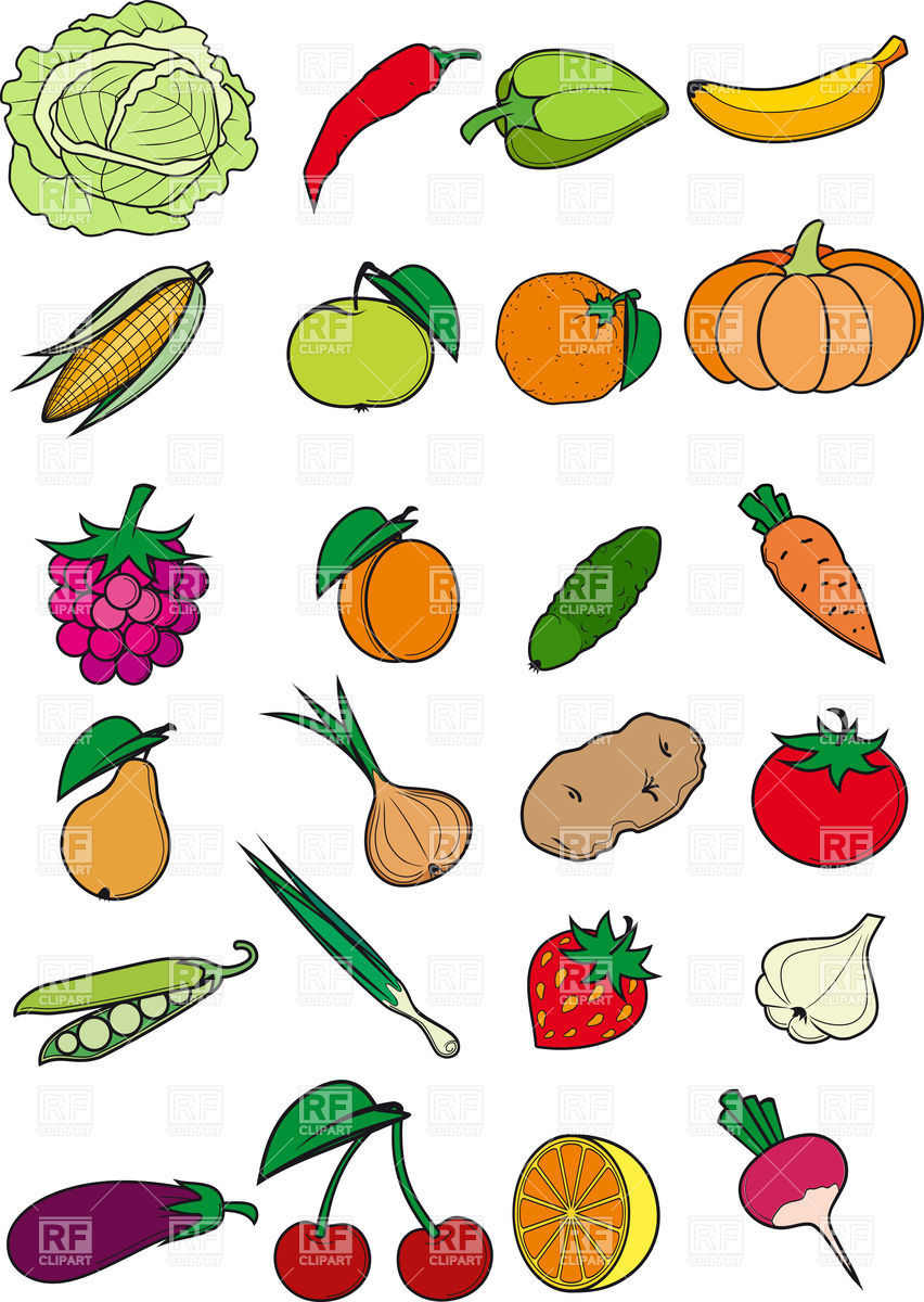 852x1200 Healthy Food Clipart Free