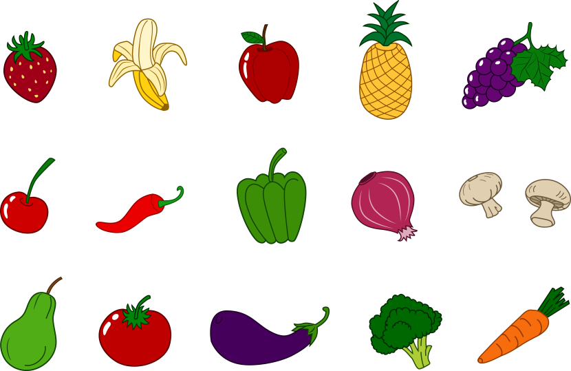Fruits And Veggies Clipart   Free download on ClipArtMag
