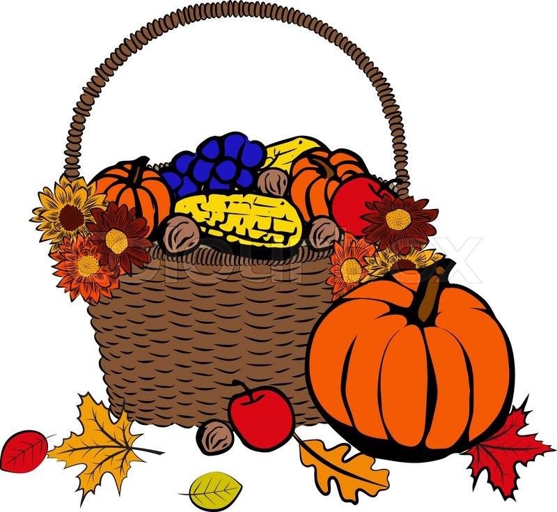 800x735 Basket Clipart Autumn Fruit