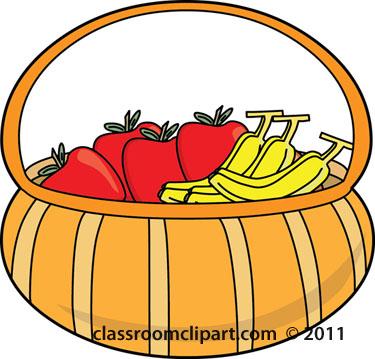 375x359 Basket Clipart Basket Food