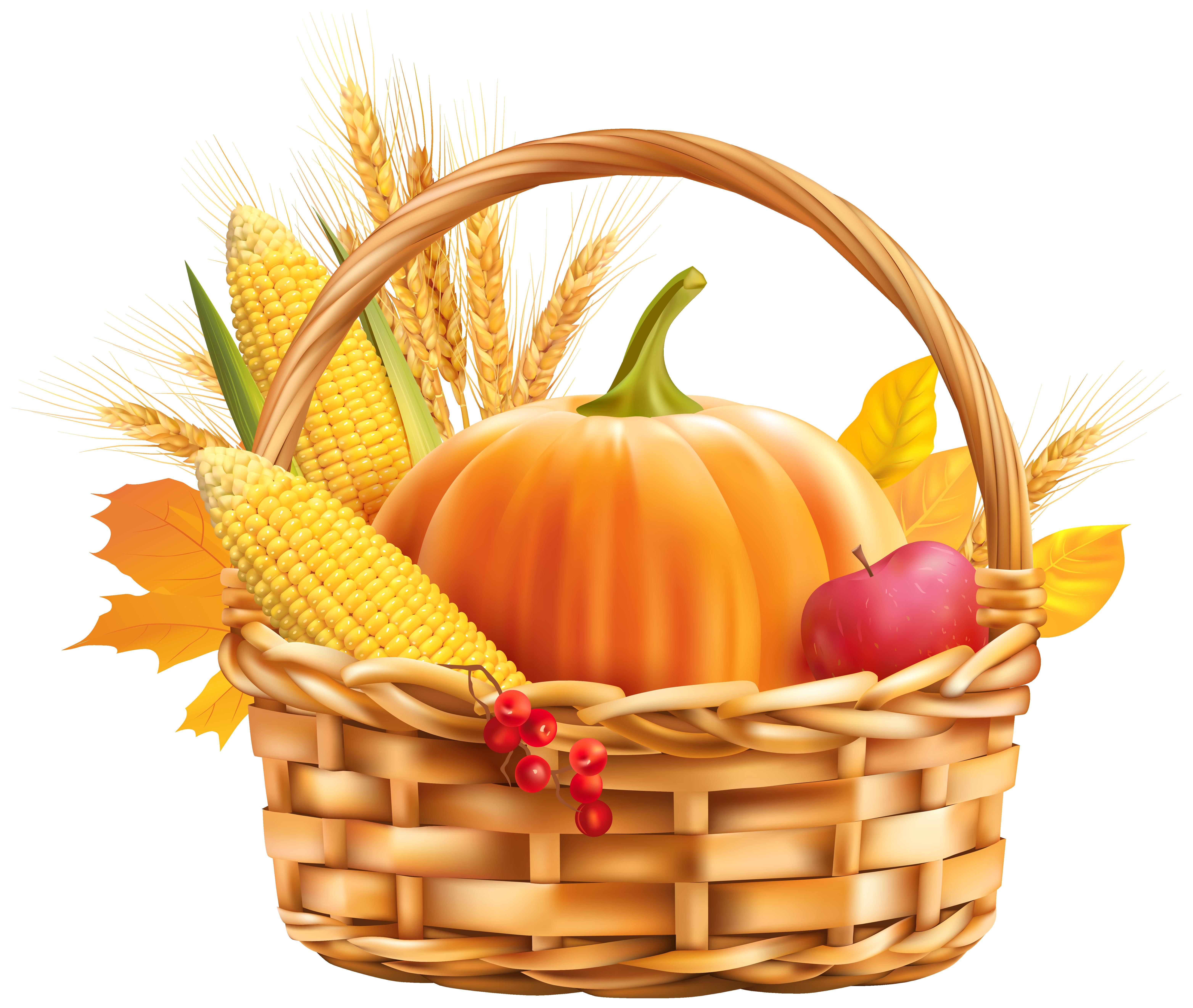 6255x5283 Basket Clipart Harvest Basket
