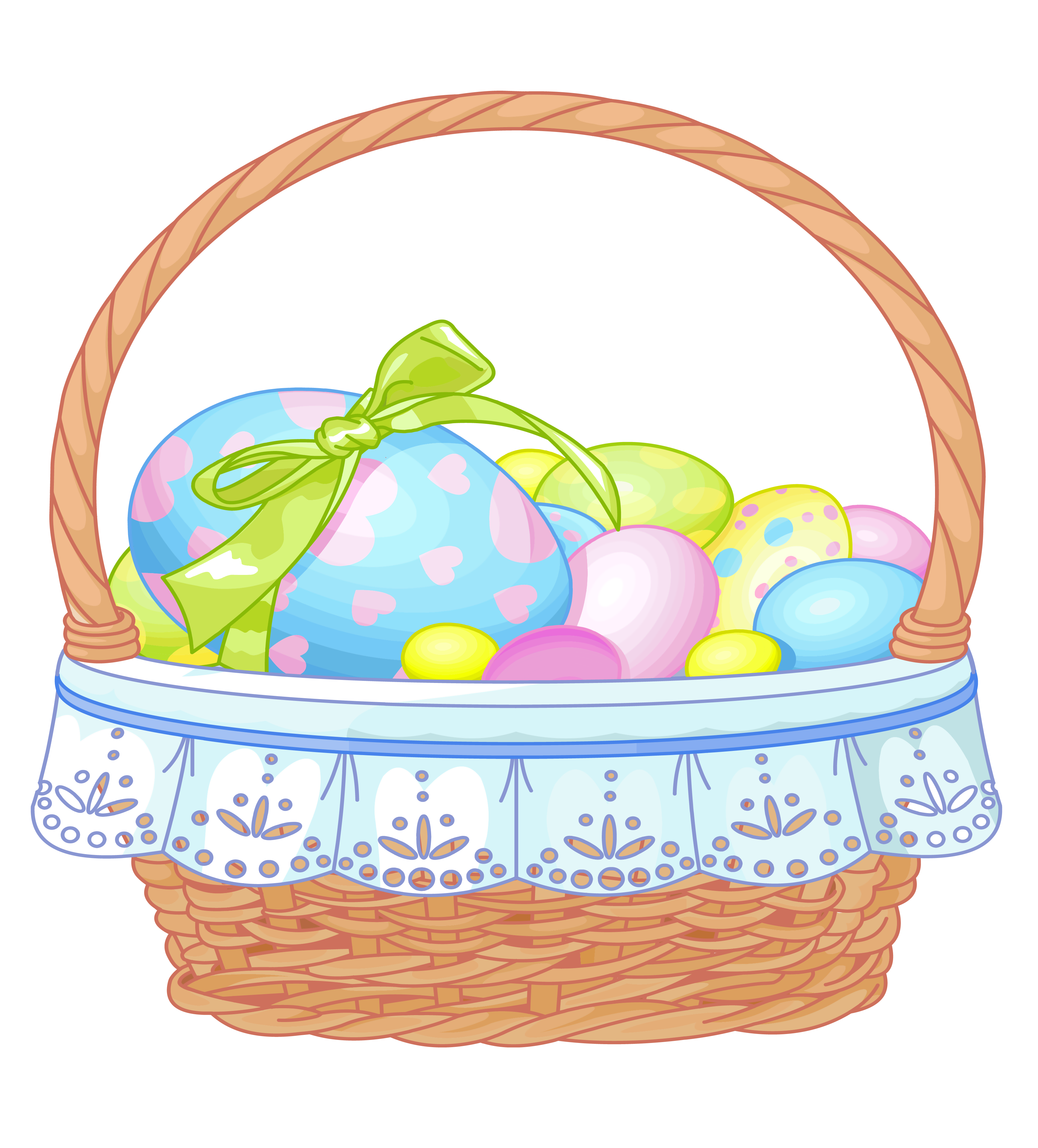 3467x3836 Easter Basket Clip Art Free Clipart