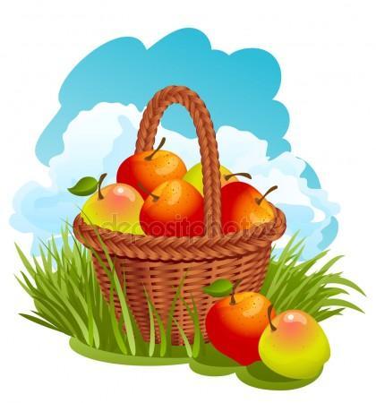 420x450 Fruit Basket Stock Vectors, Royalty Free Fruit Basket