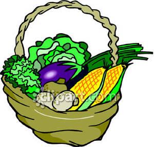 300x287 Fruits Amp Vegetables Clipart Vegetable Basket