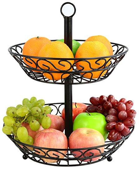 447x542 Surpahs 2 Tier Countertop Fruit Basket Stand Amazon.ca Home