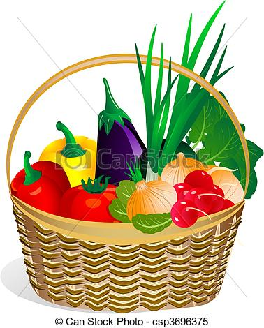 378x470 Fruits And Vegetables Basket Clipart