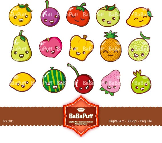 567x500 Digital Clip Art Cute Fruits Personal And Small