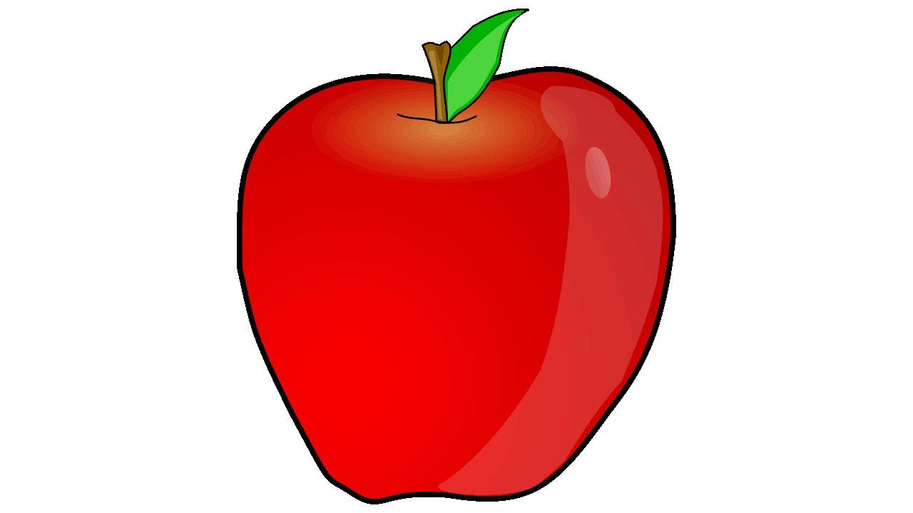 1280x720 Fruit Clipart Appel