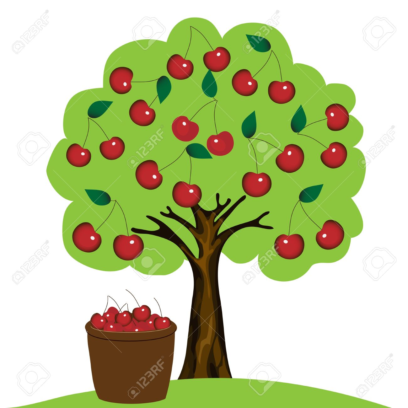 1300x1300 Tree With Fruits Clip Art 101 Clip Art