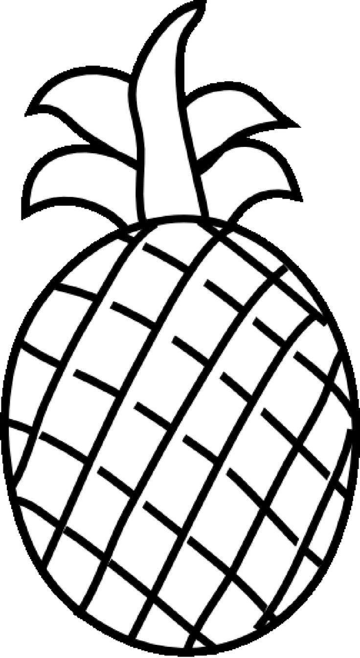 Fruits Clipart Black And White   Free download best Fruits