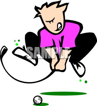 319x350 Cartoon Of A Frustrated Golfer