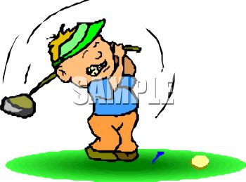 350x259 Cartoon Of A Frustrated Golfer