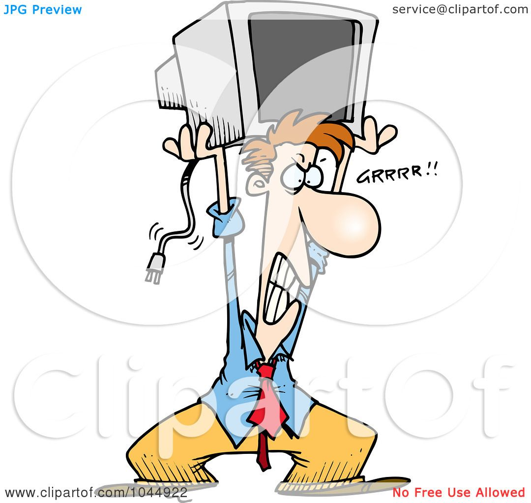 1080x1024 Royalty Free (Rf) Clip Art Illustration Of A Cartoon Frustrated