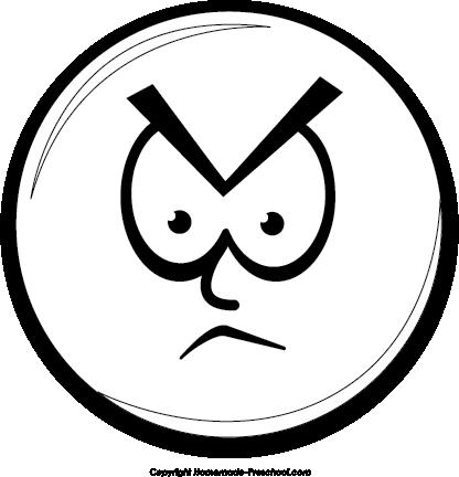416x432 Mean Face Clip Art