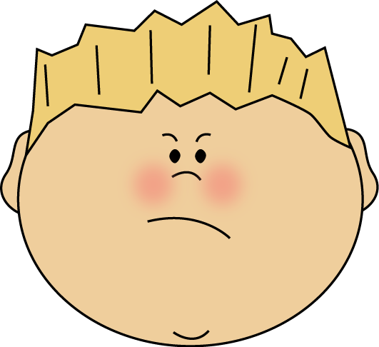 531x486 Angry Face Boy Clip Art