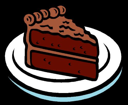 500x412 Chocolate Clipart Piece Chocolate Cake