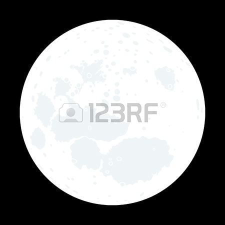 450x450 Full Moon In The Night Sky Royalty Free Cliparts, Vectors,