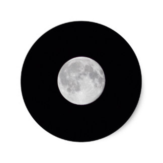 324x324 Full Moon Stickers Zazzle