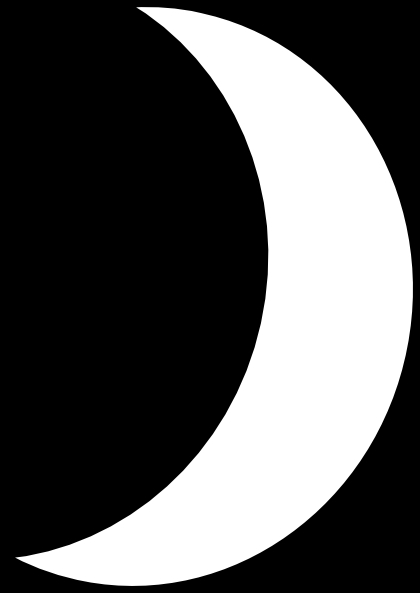 420x593 Moon Clipart Black And White