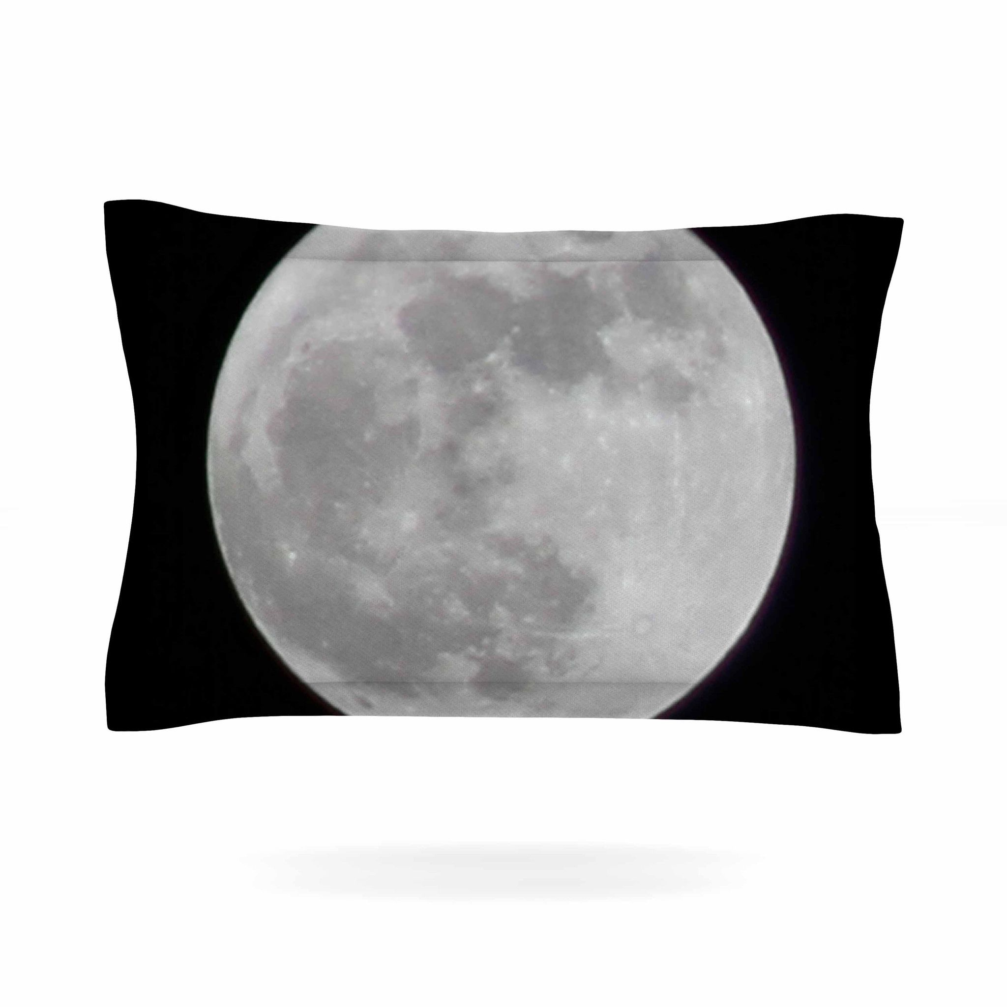 2048x2048 Sylvia Coomes The Moon Black White Pillow Sham Products