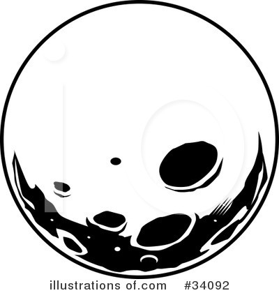 400x420 White Full Moon Clipart