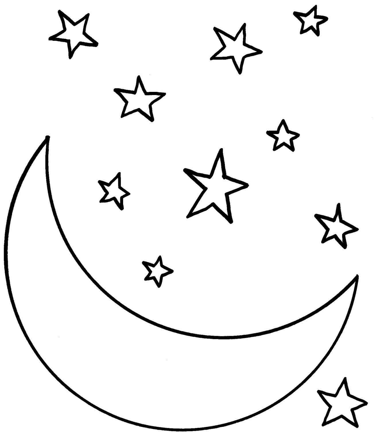 1307x1543 Free Moon And Stars Drawing Tumblr Download Clip Art On Full