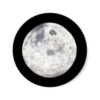 324x324 Black White Space Stickers Zazzle