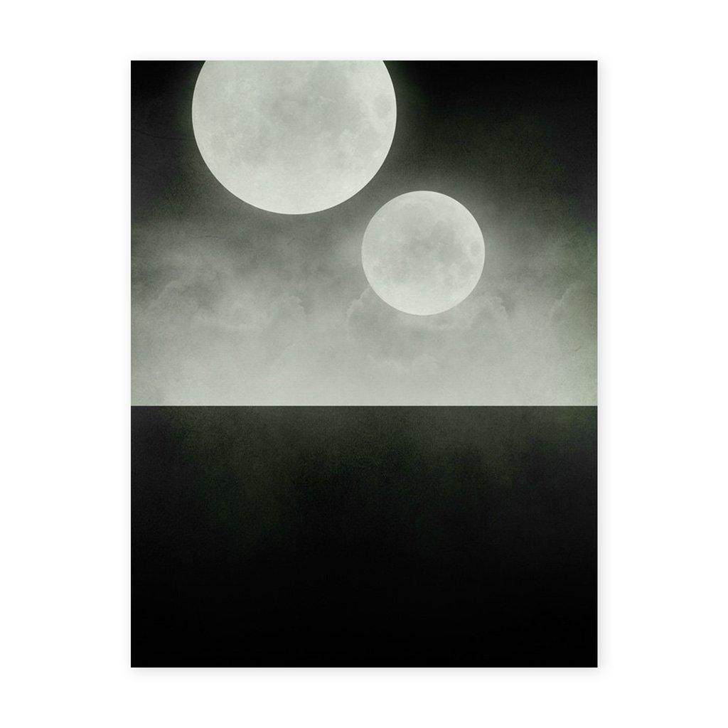 1024x1024 Black And White Moons Print 8 X 10 Ld Shoppe
