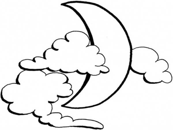 600x449 Moon Clipart Colouring