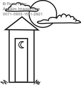 284x300 Coloring Page Ofn Outhouse With Crescent Moon On The Doornd