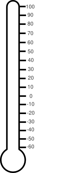 216x584 Blank Fundraising Thermometer Clip Art